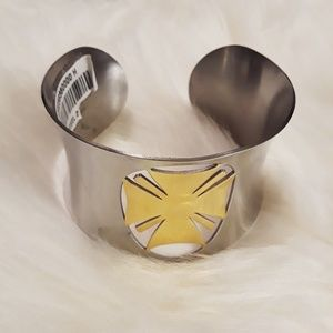 Jewelry - Stainless Steel Polished Laser Cut Cuff Bracelet